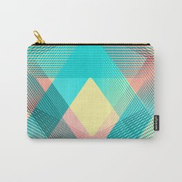 """"""" Soft """" Geometric blue Carry-All Pouch"""