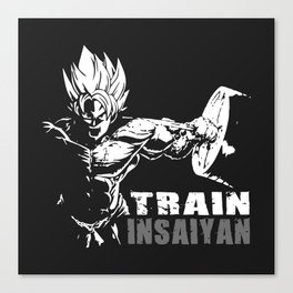 Goku train insaiyan Canvas Print