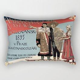 Czechoslav ethnographic exposition vintage ad Rectangular Pillow