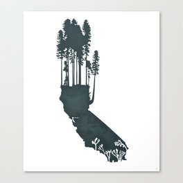 California is...The Forest Canvas Print