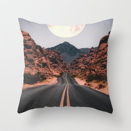 Mooned Throw Pillow