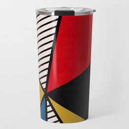 Primary Colors and Stripes Travel Mug