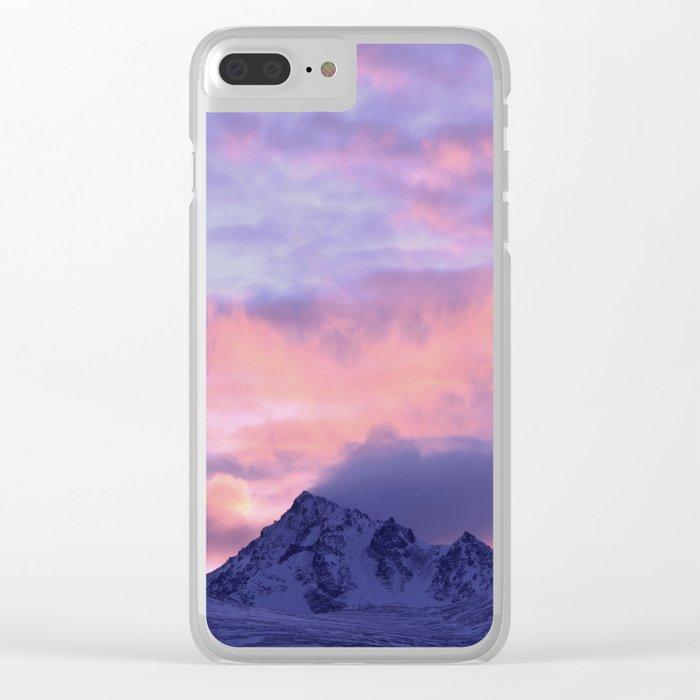 Rose Serenity Sunrise III Clear iPhone Case