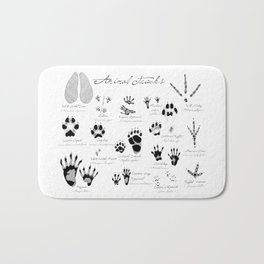 Animal Tracks Bath Mat