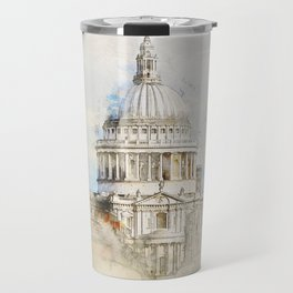 St. Pauls Cathedral,  London England Travel Mug