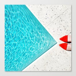 Pool Shoes Canvas Print