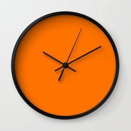 Bright Neon Orange Russet 2018 Fall Winter Color Trends Wall Clock