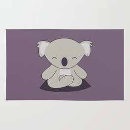 Kawaii Cute Koala Meditating Rug