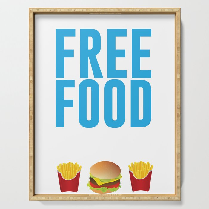 Run Like There's Free Food Snacks At The Finish Line T Shirt Serving Tray