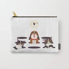 Cute Cats Dogs on Sunny Day Carry-All Pouch