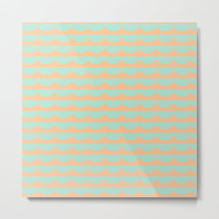 Peach Scallops Metal Print