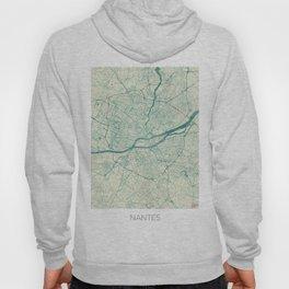 Nantes Map Blue Vintage Hoody