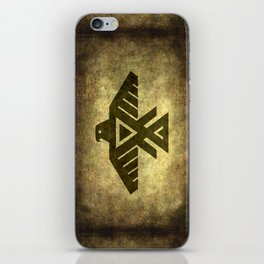 Symbol of the Anishinaabe, Ojibwe (Chippewa) on  parchment iPhone Skin