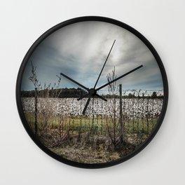 Florida Cotton Fields  Wall Clock