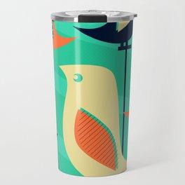 Mid Century Birds Travel Mug