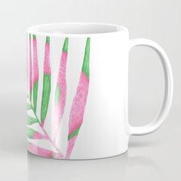 Pink Flamingo Palm Leaf Coffee Mug