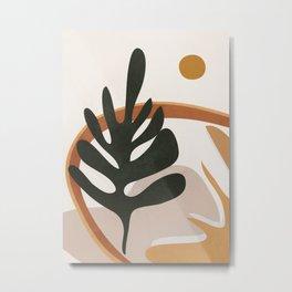 Abstract Plant Life I Metal Print