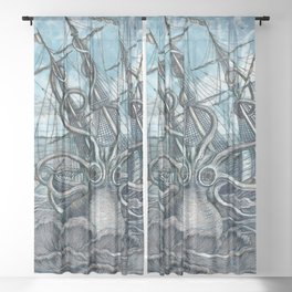 Sea Monster Sheer Curtain