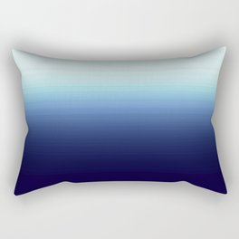 Nautical Blue Ombre Rectangular Pillow