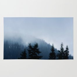 The Grouse Mountain in Fog Rug