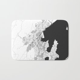 Wellington Map Gray Bath Mat