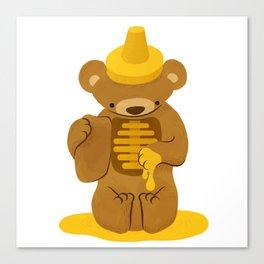 Honey Bear - Gooey Inside Canvas Print