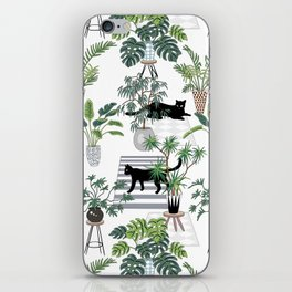 cats in the interior pattern iPhone Skin