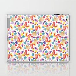 Rainbow Watercolor Circles Laptop & iPad Skin
