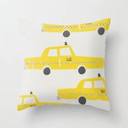 New York Taxicab Throw Pillow