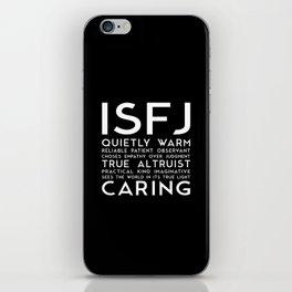 ISFJ (black version) iPhone Skin