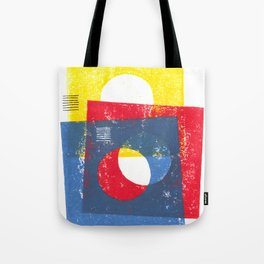Basic in red, yellow and blue Tote Bag