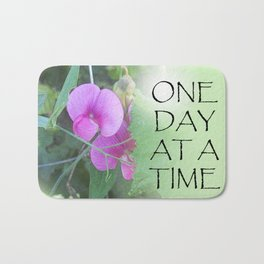 One Day at a Time Sweet Peas Bath Mat