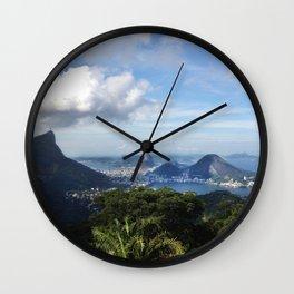 RIO DE JANEIRO THE CITY POSTCARD Wall Clock