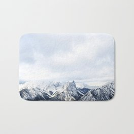 Looking out over the Rockies, in Banff Bath Mat
