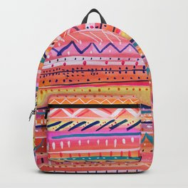 Hand painted Bright Patterned Stripes Backpack