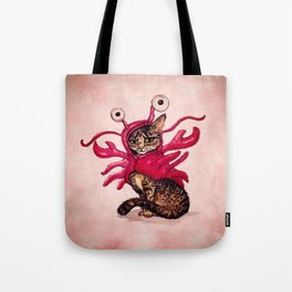 """""""Ma'ama Lisa"""" by Amber Marine ~ Lobster Cat, Watercolor and Ink, (c) 2015 Tote Bag"""