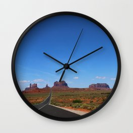 Traveling On Highway 163 Wall Clock