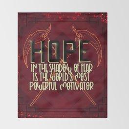 Hope (Scythe) Throw Blanket