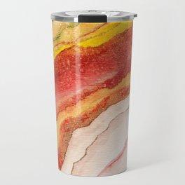 AGATE Inspired Watercolor Abstract 03 Travel Mug