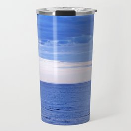 Blue on Blue at the River Mouth Travel Mug