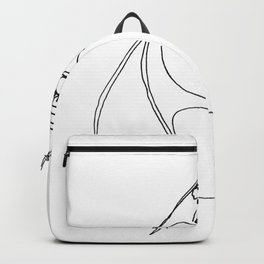 DISAPPOINTMENT ( ONE LINE DRAW) Backpack