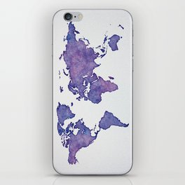 Purple World Map 02 iPhone Skin