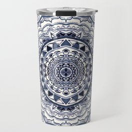 Supernova-In Navy, Dark Blue, & Grey Travel Mug