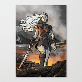 Score of Fire Canvas Print