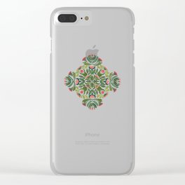 Little Red Riding Hood mandala Clear iPhone Case