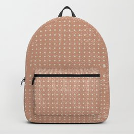 Vintage peach ivory polka dots brushstrokes pattern Backpack
