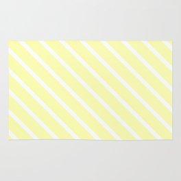 Vanilla Diagonal Stripes Rug