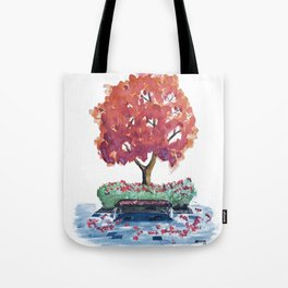 Bench Watercolor Tote Bag
