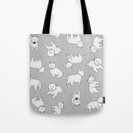 Playful Westies Tote Bag