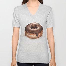 Chocolate Glazed Donut Unisex V-Neck